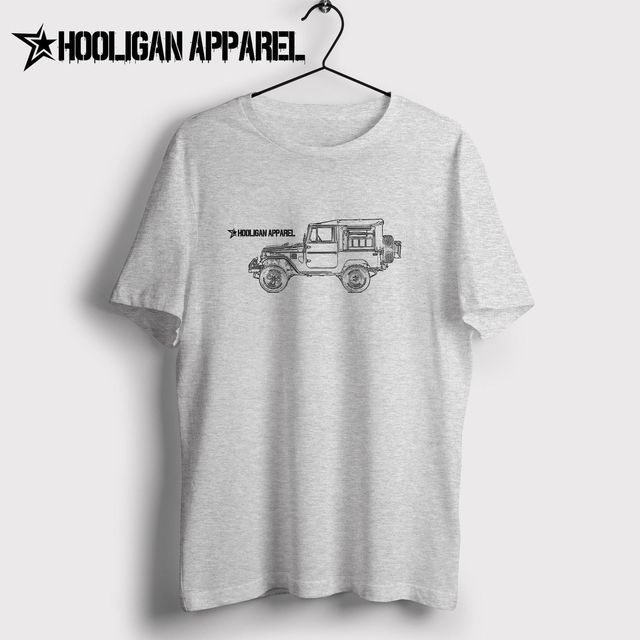 f5925027cf4 New Men Shirt Men Summer Tops Classic Japanese Car Fans Land Cruiser Fj49 Tonka  Truck Custom 4X4 Inspired Car Art Hipster Tee