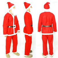 New Men Christmas Santa Claus Cosplay Costume Fun Role Playing Halloween Stage Performance High Quality Clothing