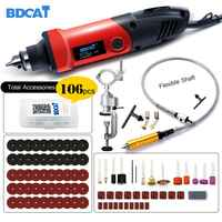 BDCAT 400 W Mini taladro grabador herramienta rotativa 6 herramienta de amoladora de ángulo eléctrico de velocidad Variable con accesorios de Dremel de eje Flexible