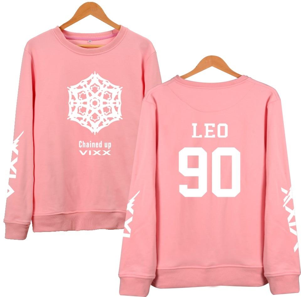 LUCKYFRIDAYF VIXX KpopSweatshirt Women Fans Support Member Name Printed Fleece Hoodies Pullover Black Hoodie Korean Clothes