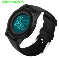 SANDA Super Slim Sports Watch Men Waterproof Mens Watches Top Brand Luxury Ultra Thin Military Watches