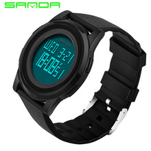 c08b4660275 SANDA Super Slim Digital Homens Relógio À Prova D  Água Led Eletrônico  Relógios Ultra Finos dos homens Relógios Militares Relogi.
