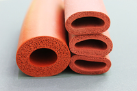 FREE SHIPPING Extrued Low Density Soft RED Silicone Foam Tube ID 20mm OD 40mm Top Quality