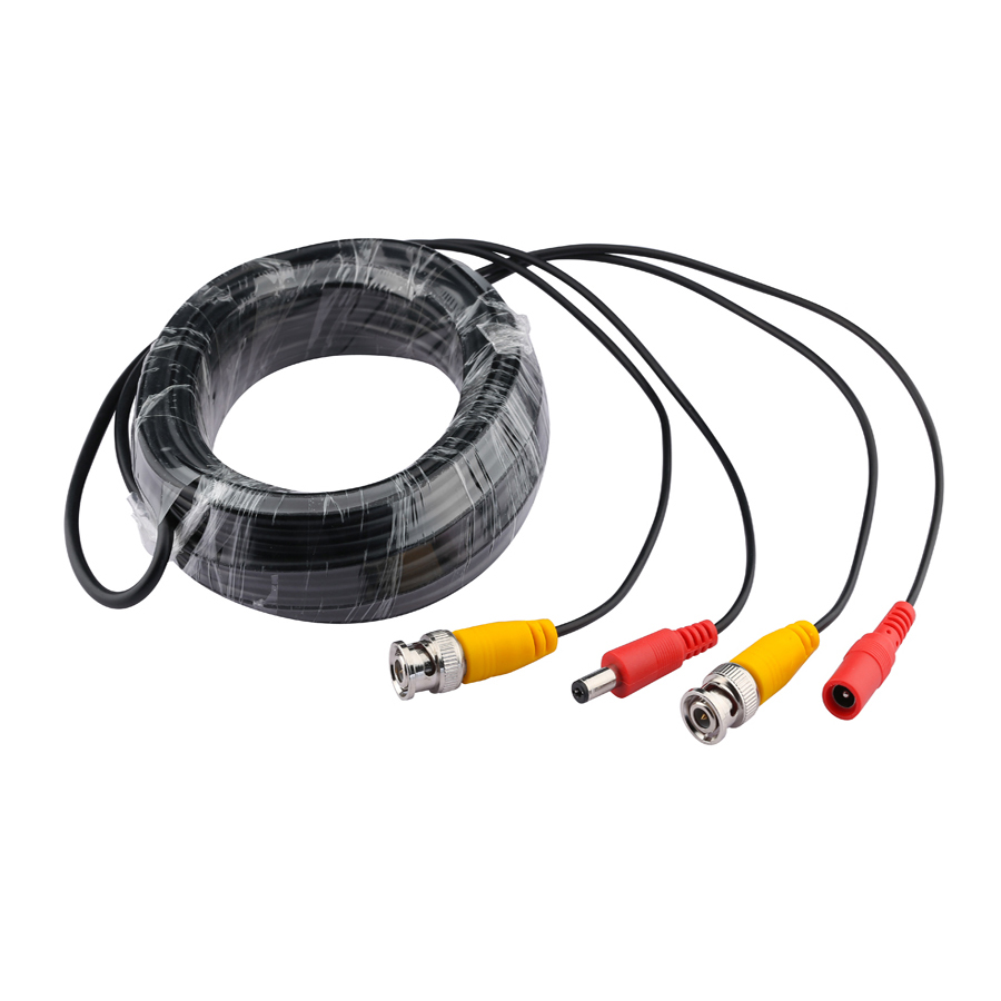 Hamrolte BNC Cable CCTV Power Video BNC+DC Plug Cable For AHD,CVI,TVI ,Analog Camera Surveillant System 50m/40m/30m/20m/10m/5m цена