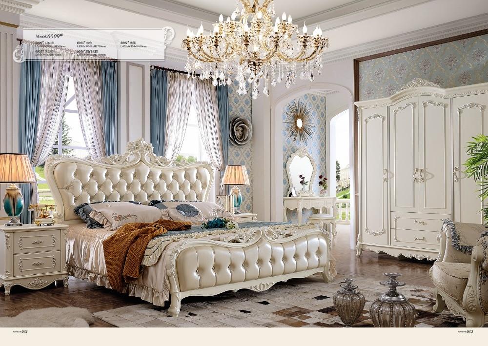 € 4226.94 |2018 ensemble de chambre à coucher et meubles de salon livraison  gratuite à moscou lit King Size, commode, armoire avec canapé en cuir-in ...