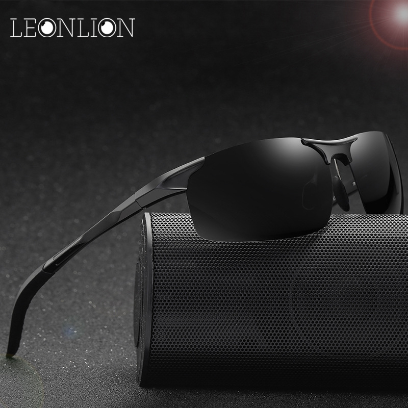 9ce6a31eec9 LeonLion 2018 Polarized Al-Mg Sunglasses Men Brand Designer Classic Sun  Glasses Women Men
