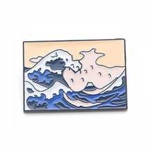 K30 The Great Wave off Kanagawa Metal Enamel Pins and Brooches for Women Men Lapel Pin Backpack Badge Denim Collar Jewelry