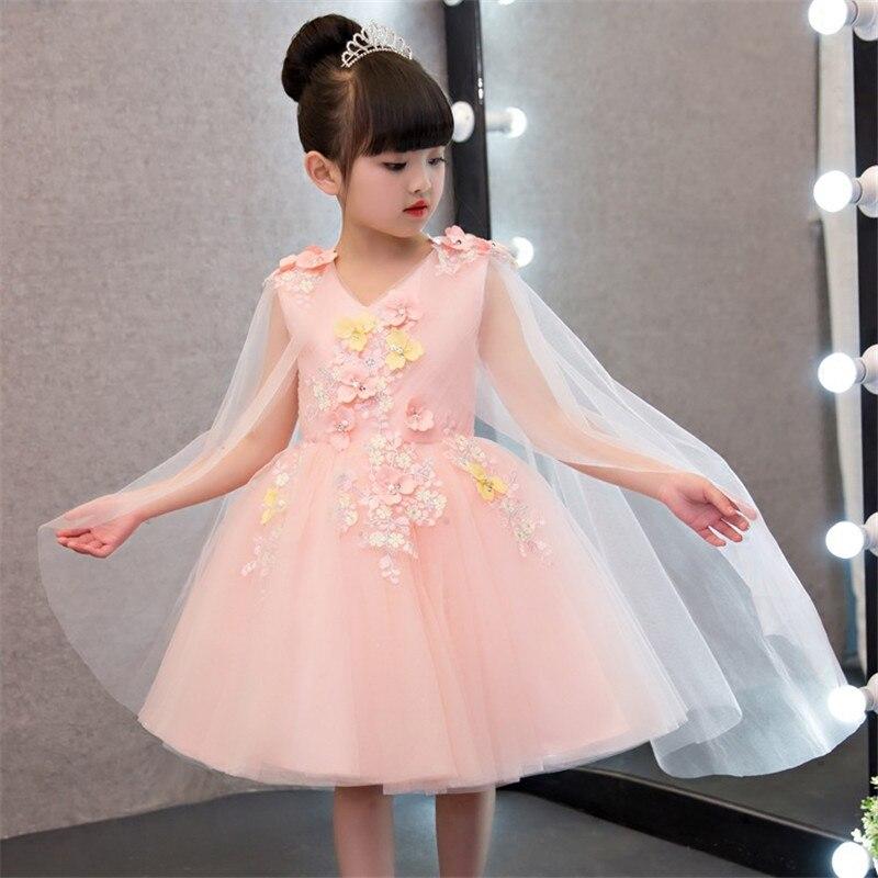 Mingli Tengda rose fleur fille robes pour les mariages robes de bal pour les filles robe élégante col en V fleur robe mariage fille