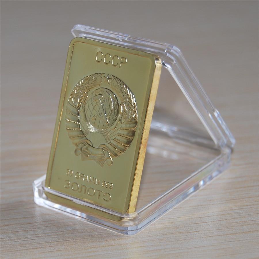 Russia Gold Bar Ingot Coin Medal Soviet Union Cccp Ussr