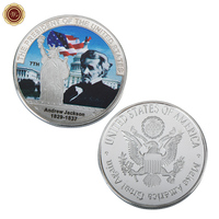 WR Andrew Jackson Challenge Silver Coin Commemorative US 7th Metal Coin for Collectible Business Gifts