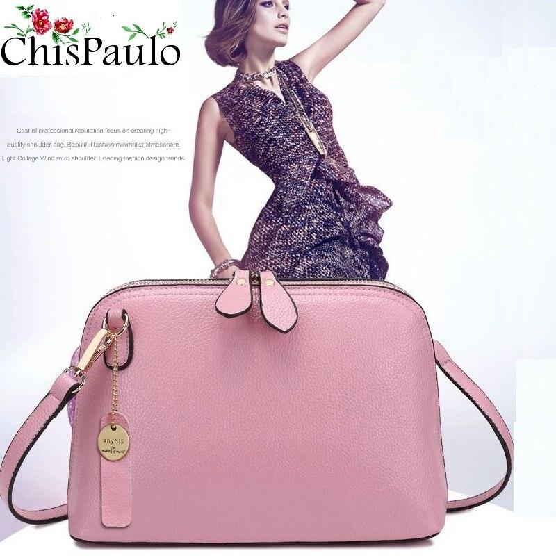 Розкішний бренд сумки Дизайнер Повсякденні жіночі сумки з натуральної шкіри Модні пензлики плече Crossbody сумки для жінок 2017 X52  t
