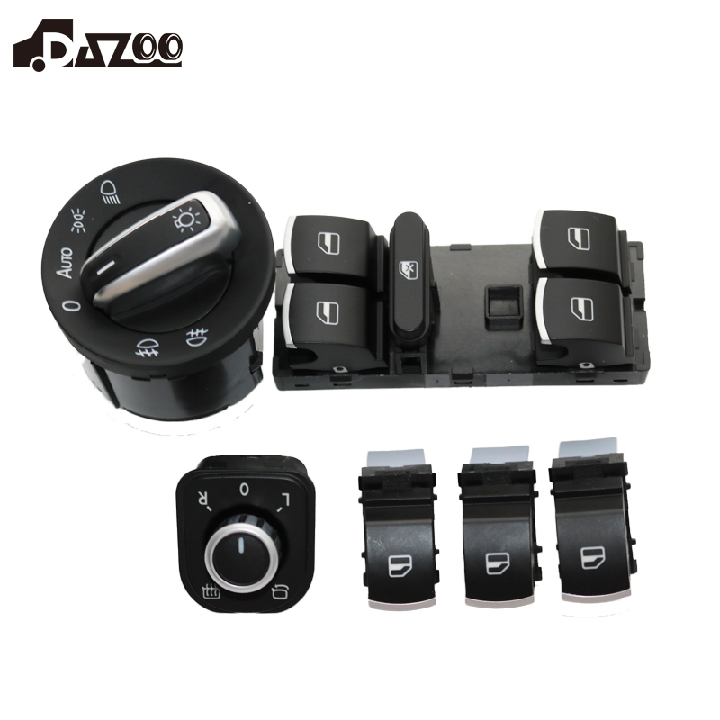 DAZOO 6PCS/Set Electric Single Window Control Switch  For VW Jetta 6 Golf GTI 5 6 Touran Tiguan Caddy Passat B6 CC 5ND 941431BDAZOO 6PCS/Set Electric Single Window Control Switch  For VW Jetta 6 Golf GTI 5 6 Touran Tiguan Caddy Passat B6 CC 5ND 941431B