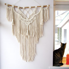 Nordic Hand-woven Tapestry macrame wall hanging Ins Living Room Bedroom Wall Painting Home Decoration