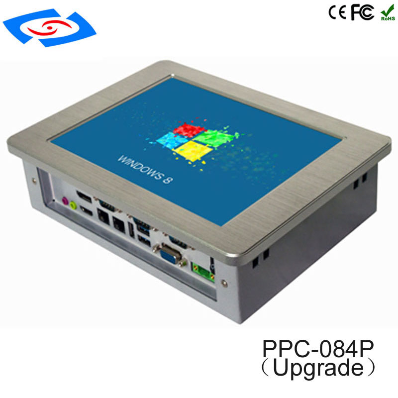 Factory Wholesale 8.4 Inch Aluminum Case Fanless Industrial Touch Screen Panel PC With 800x600 Resolution Application Commercial