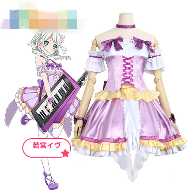 BanG Dream! Pastel*Palettes Wakamiya Eve Halloween Christmas Party Uniform Dress Cosplay Costume  sc 1 st  AliExpress.com & BanG Dream! Pastel*Palettes Wakamiya Eve Halloween Christmas Party ...