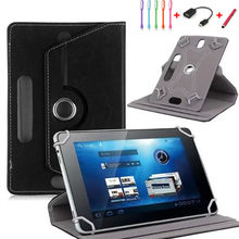 "360 Rotating Universal PU Leather Stand Cover for Android Tablet 9.7""/10""/ 10.1""/10.2 inch case for Digma Plane 10.5 3G+pen(China)"
