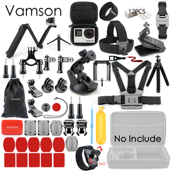 Vamson for Gopro Accessories Set for go pro hero 8 7 6 5 4 kit 3 way selfie stick for Eken h8r / for xiaomi for yi EVA case VS77 13