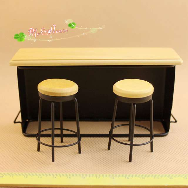 1 12 cute mini dollhouse miniature furniture accessories bar tables and stools in furniture toys. Black Bedroom Furniture Sets. Home Design Ideas
