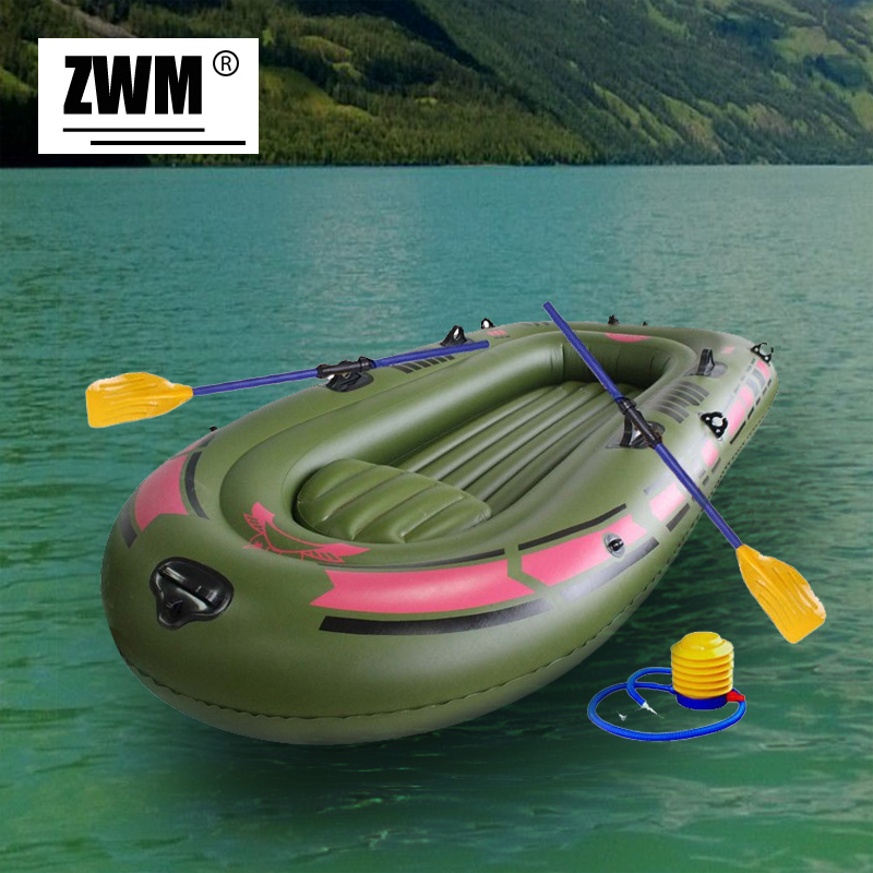 Inflatable boat portable single boat high strength pvc for Rubber boats for fishing