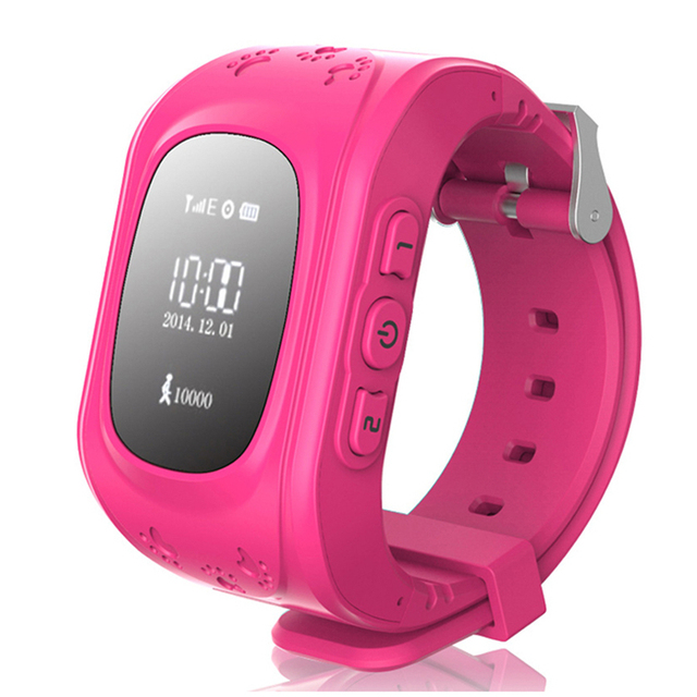 Smart Watch Anti Lost Q50 OLED Child GPS Tracker SOS Monitoring Positioning Phone Kids GPS Baby Watch Compatible IOS & Android