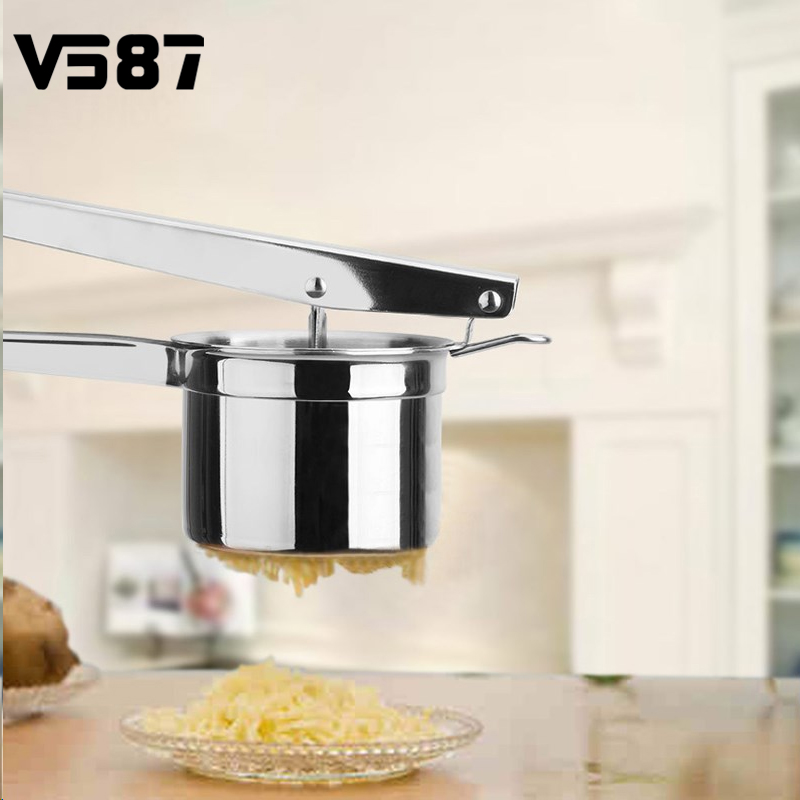 Kitchen Garlic Press Stainless Steel Folder Garlic Thickening Device Manual Large Masher Ricer Puree Vegetable Fruit Press Tools