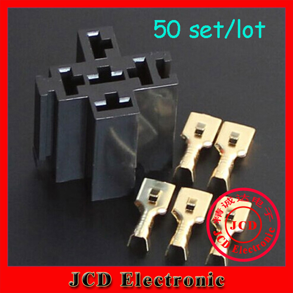 50 sets Automotive Car Relay Sockets 5 Pin Mount Series Relays