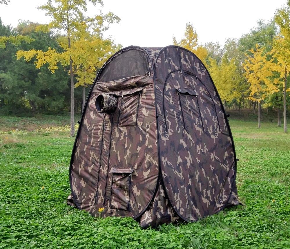 Cache unique! Portable intimité en plein air regarder Pop Up tente Camouflage/UV fonction extérieure photographie tente regarder oiseau