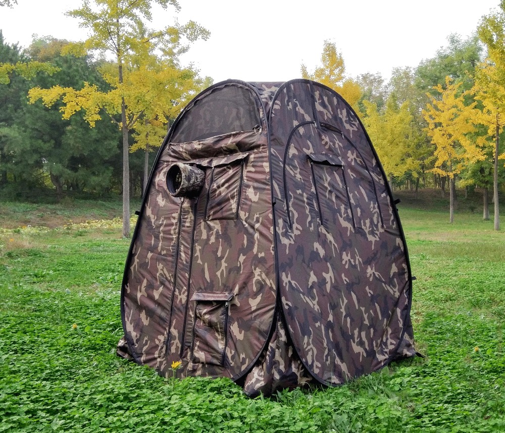 Single hide!Portable Privacy outdoor watching Pop Up Tent Camouflage/UV function outdoor photography tent watching birdSingle hide!Portable Privacy outdoor watching Pop Up Tent Camouflage/UV function outdoor photography tent watching bird