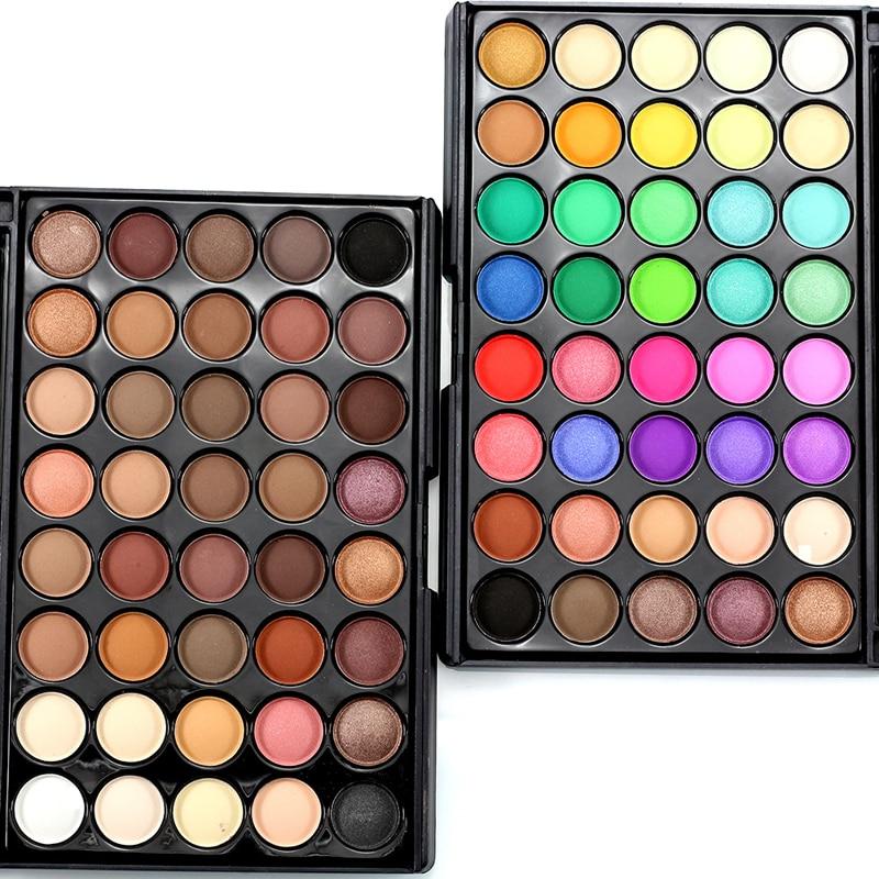 popfeel Professional 40 Χρώματα Σκιά ματιών Παλέτα Ματ Μακιγιάζ Χρωστική Καπνιστή Μάτια Καλλυντικά Σκιά ματιών Παλέτα Ομορφιά Μακιγιάζ