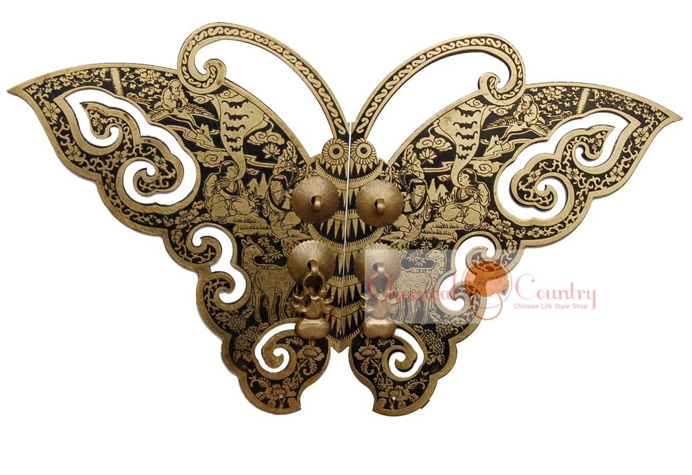 Butterfly Brass Hardware Gate Knocker Door Pull Handle ...