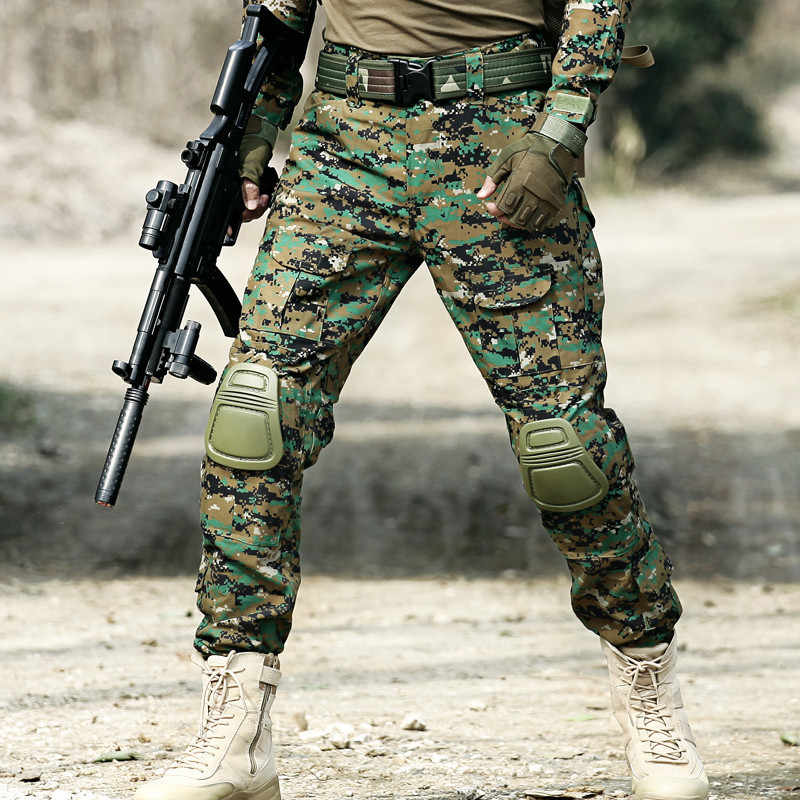 MEGE 12 kolor kamuflażu odzież taktyczna armia umundurowanie bojowe, spodnie wojskowe z ochraniacze na kolana, odzież Airsoft Paintball