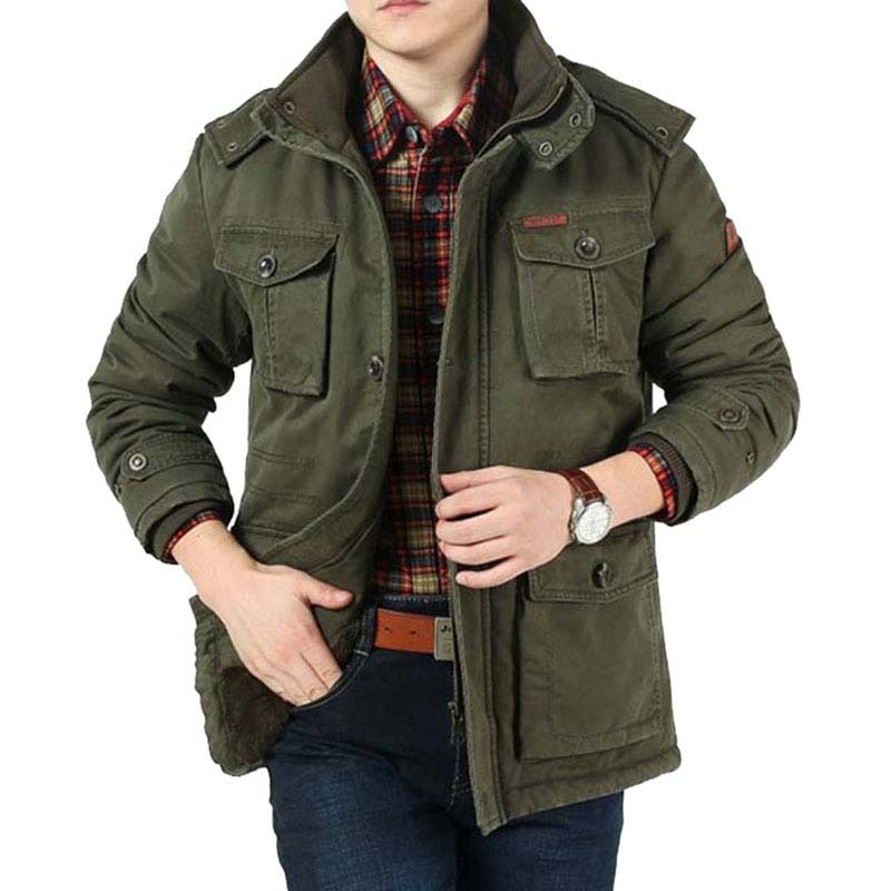 5468a882a34d3a Dell'esercito Del Il Libero Caldo Copre Basamento Stile Uomini Vento  Outwear Di verde Collare Pile Cappotti cachi Nero ...