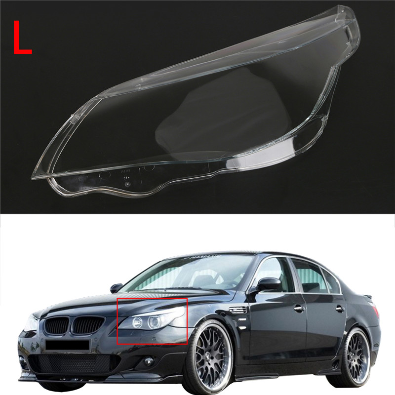 Left Side Headlamps Cover Case Clear Headlight Lens Shell Assembly For BMW 5 Serice E60 E61 520i 520d 523i 525i 530xi купить