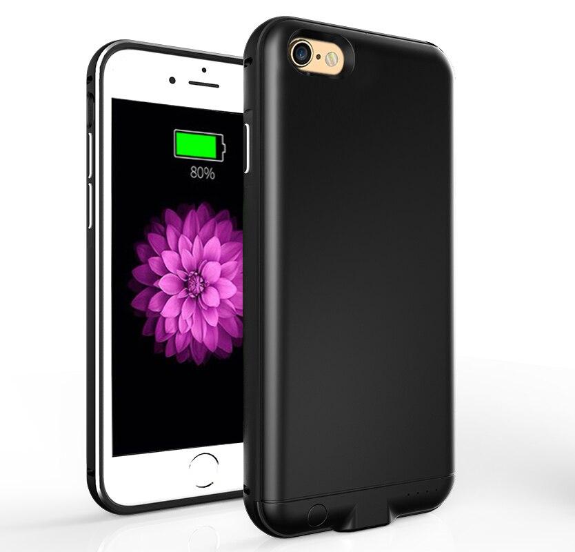 bilder für Neue upgrade ladegerät stromkasten für iphone 6 6 s abs metallrahmen rückseitige cover externer batteriekasten für iphone 6 plus 6 SPlus