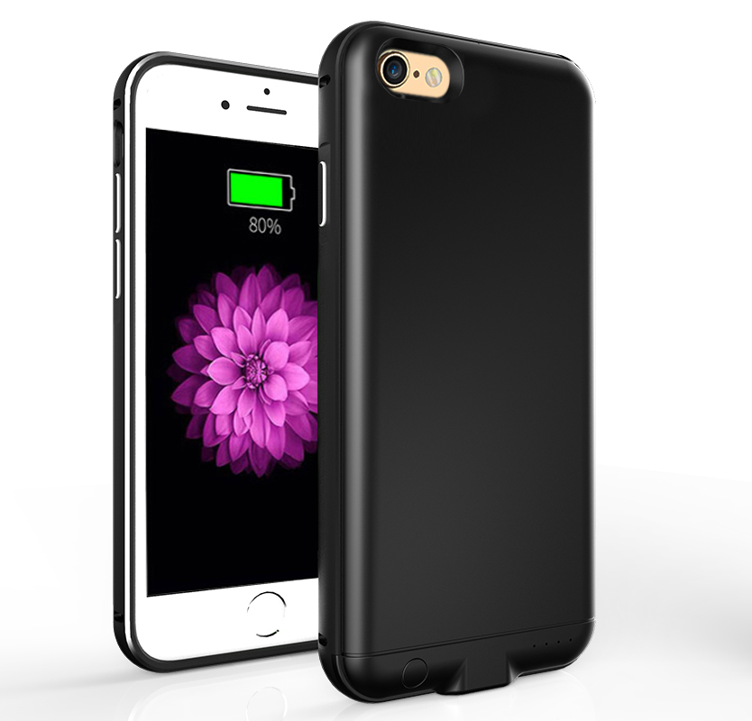 imágenes para Nueva actualización del cargador de alimentación para iphone 6 6 s abs marco de metal cubierta de la caja de batería externa para iphone 6 plus 6 SPlus