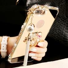 Lady Girl Women Style Aluminium Metal Bumper Case For iPhone X 8 7 Plus Luxury Diamond Stone Phone Cover For iPhone 6 6S Plus 5S