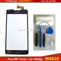 Diy инструменты для Philips Xenium W6610 W6618 CTW6610 CTW6618 стекло датчик сенсорный экран планшета черный / белый