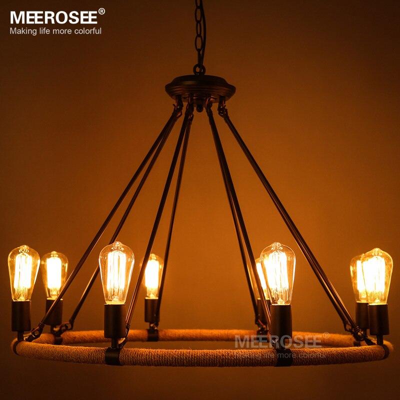Vintage Anhnger Leuchte Amerikanischen Stil Seil Drop Lampe Lustre Antike Edision Pendelleuchte Fr Wohnzimmer