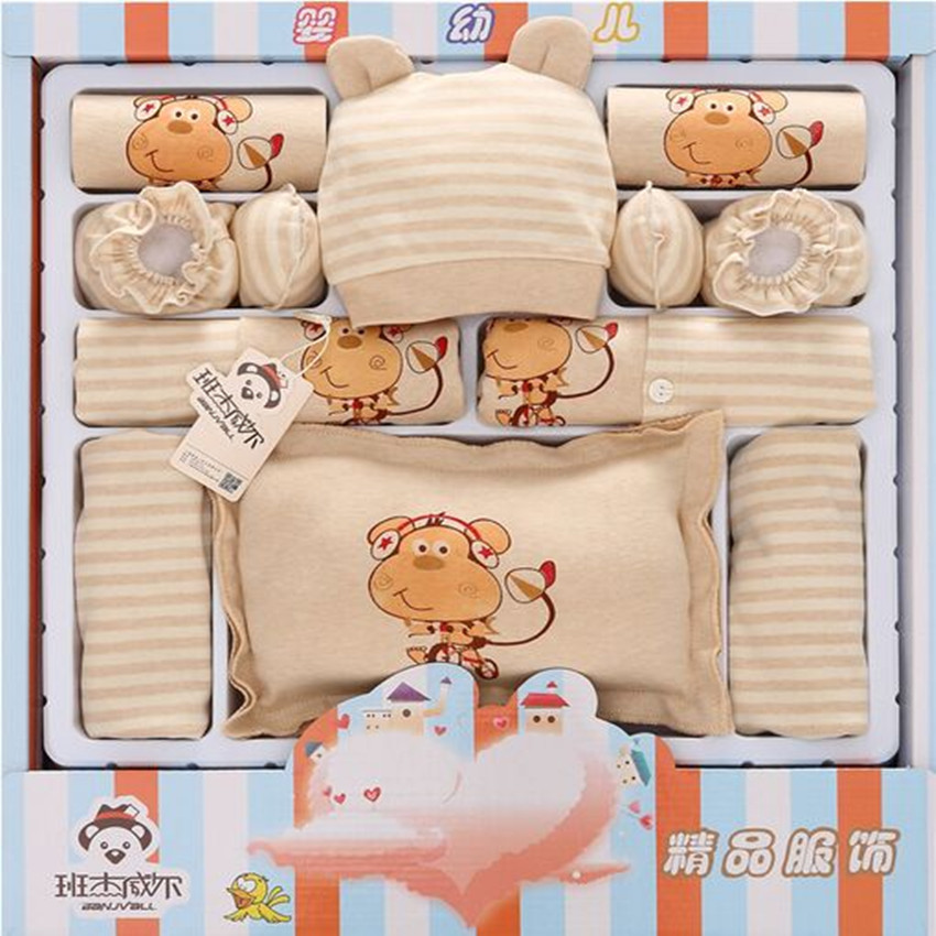 16 Pcs/Sets 100% Cotton Baby Newborn Gift Sets Cute Suit Boys Underwear Baby Clothes Boy Baby Fit 0-12Month 0 12month baby girls