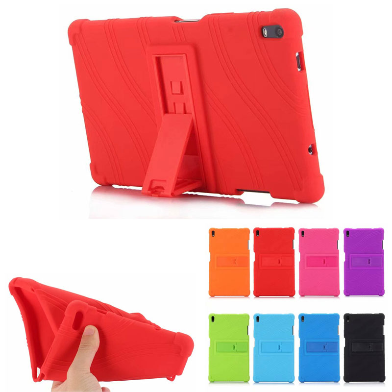Drop Resistance Falling Stand Soft Silicone Case for <font><b>Lenovo</b></font> Tab4 8 Plus <font><b>8704</b></font> 8 inch Tablet image
