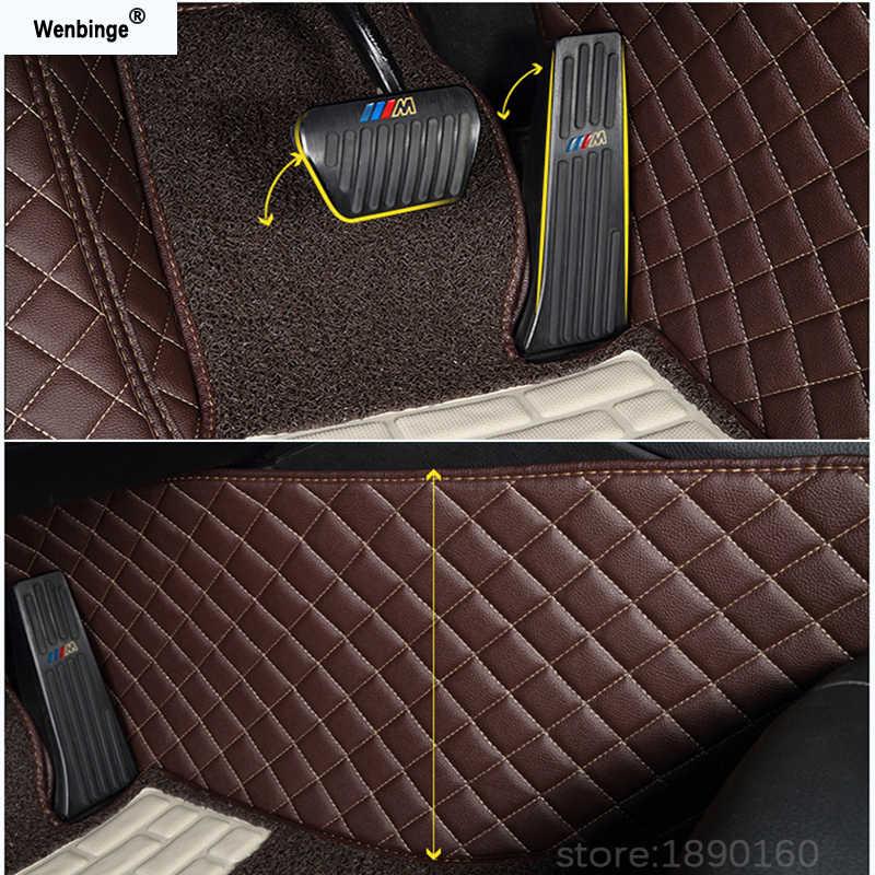 Custom auto vloermatten voor Haval Alle Modellen H1 H2 H3 H4 H6 H7 H5 H8 H9 M6 H2S H6coupe auto styling auto accessoires voet pad