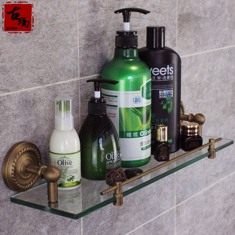 где купить  Bathroom fashion antique copper bathroom accessories single tier shelf cosmetic rack f704  по лучшей цене