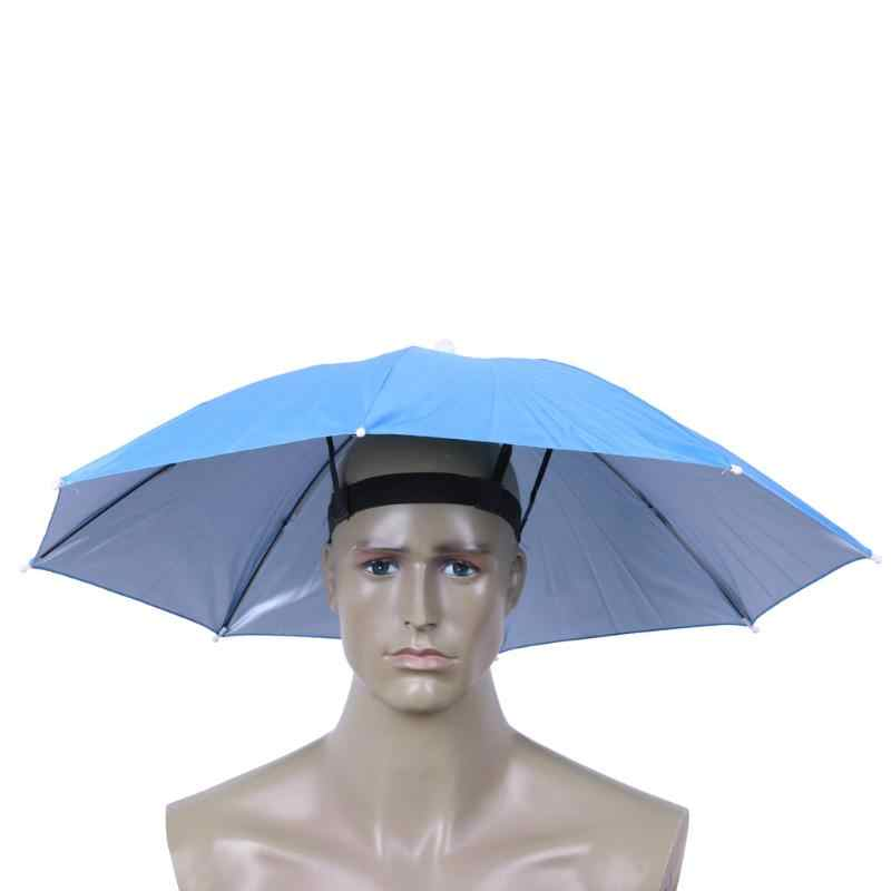 25d384b598b 69cm Foldable Umbrella Hat Elastic Band Fishing Sun Shade Umbrella  Waterproof Outdoor Camping Headwear Cap