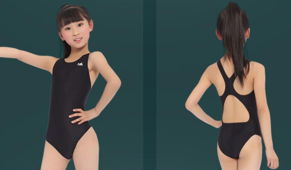 Professional Top quality Slim One Piece swimsuit Training competition Swimwear for girls