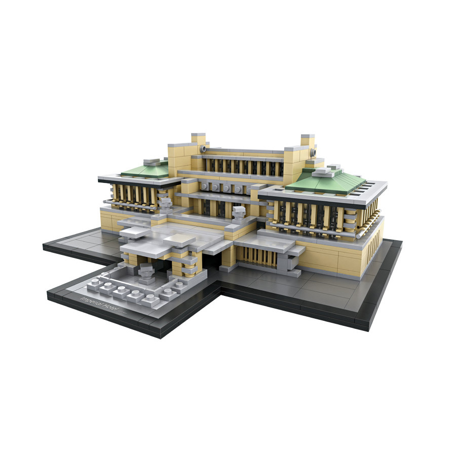 2017 Loz world famous Architecture nanoblock Imperial Hotel Tokyo Japan mini diamond building block model DIY educational toys loz world famous architecture nanoblock daming palace china city mini diamond building block model educational toys for kids