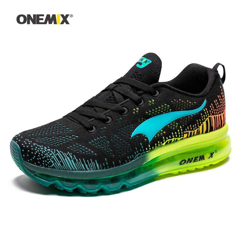 ONEMIX 男性女性エアメッシュニットクッショントレーナーテニススポーツスニーカー屋外旅行ウォーキングジョギング靴