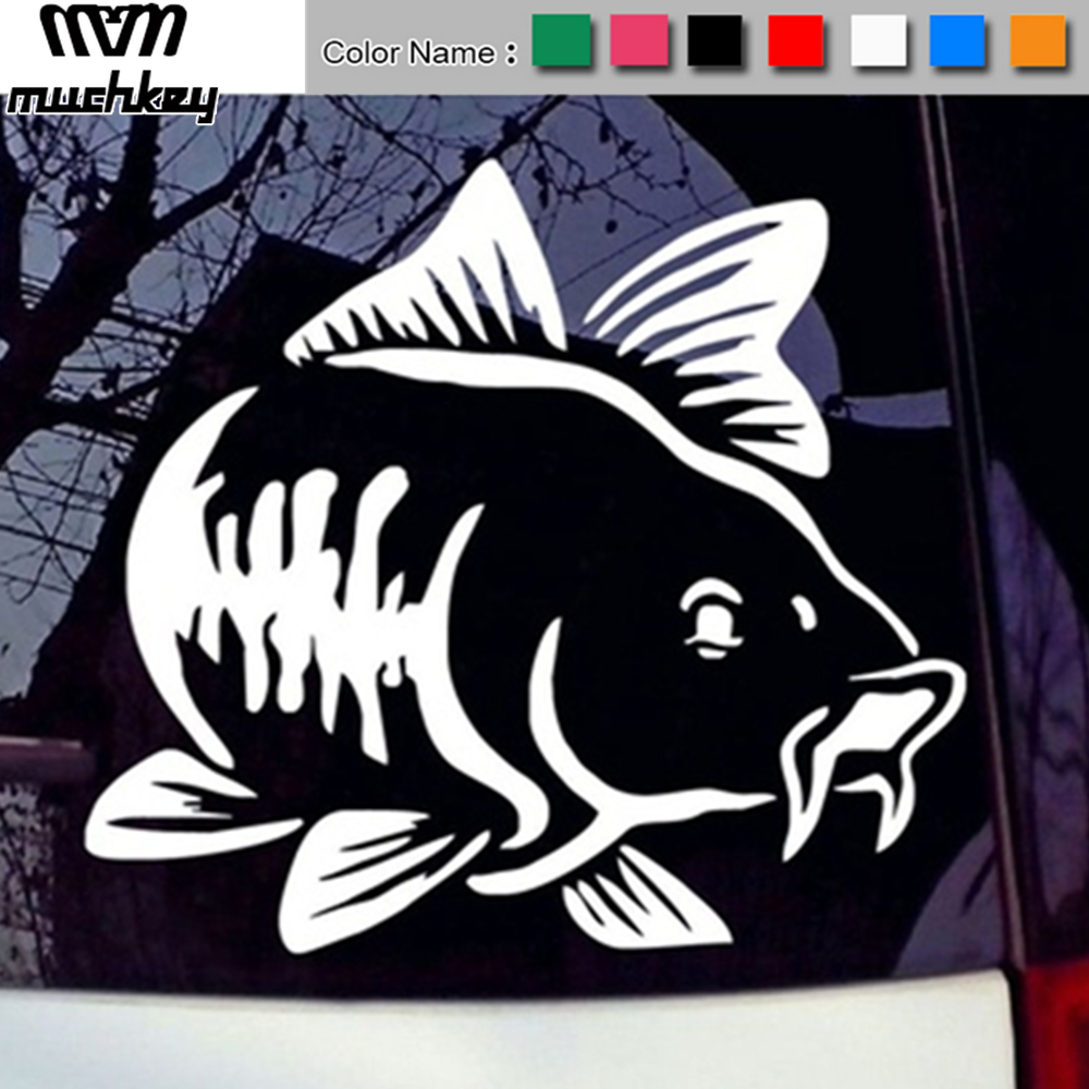 Car Vinyl Decal Art Sticker Carp Fishing Kayak Fishing Stickers Car Truck Boat Tribal Car Styling Auto Accessories 1pc in Car Stickers from Automobiles Motorcycles