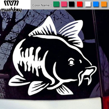 цены Car Vinyl Decal Art Sticker Carp Fishing Kayak Fishing Stickers Car Truck Boat Tribal Car-Styling Auto Accessories 1pc