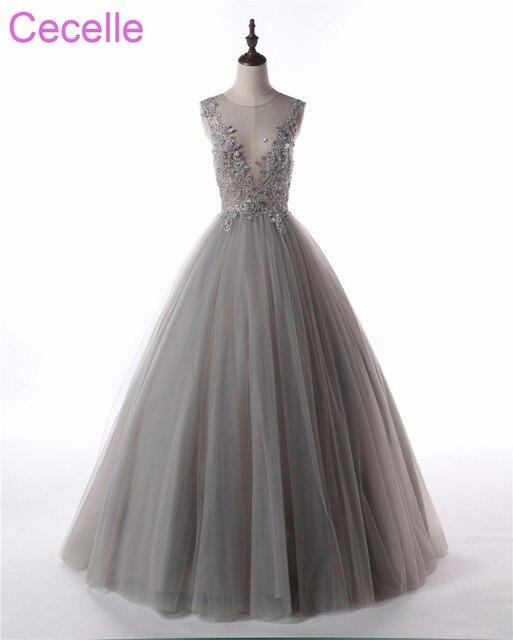 Sleeveless Sequin Prom Dress