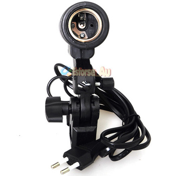10pcs New Flash Swivel Adapter Single Lamp Bulb Holder E27 Umbrella Bracket EU Plug